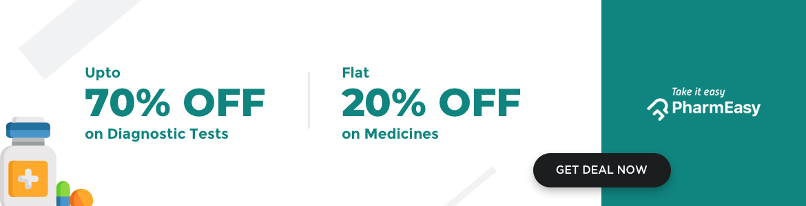 Get 20% Off from PharmEasy on all Over the Counter medicines and many more with prescriptions - delivered straight to your home!